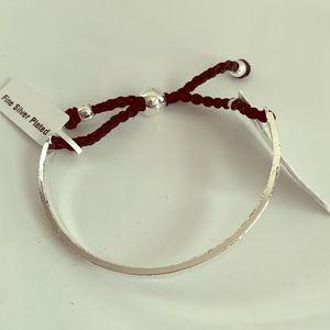 *Silver Plated Bangle bracelet NWT